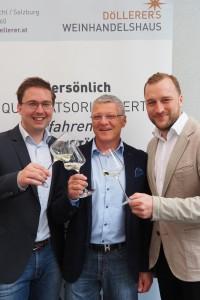 Team Döllerer: Alex Koblinger, Hermann Mahringer & Manuel Gianmoena