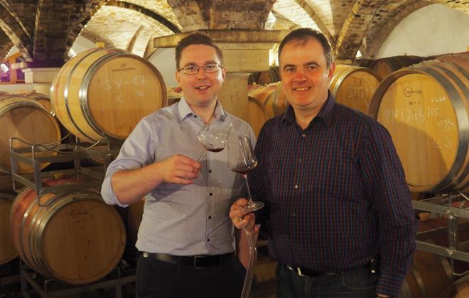 Alex und Hannes Reinisch im Dorado des Weines.
