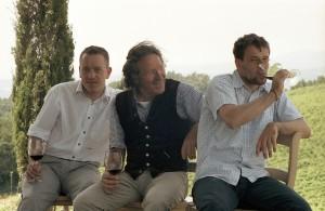 Familie Loacker bei Weinverkostung