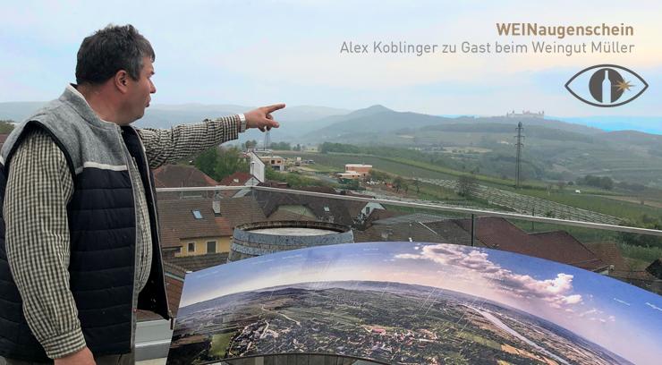 Leopold Müller mit Blick auf seine Weingärten